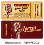 event or concert ticket... | Shutterstock .eps vector #789695203