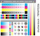 calibration printing crop marks.... | Shutterstock .eps vector #789695206
