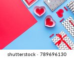 person holding a present for... | Shutterstock . vector #789696130