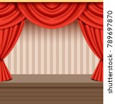 retro theater scene background... | Shutterstock .eps vector #789697870