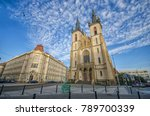 Small photo of Kostel Sv. Antonina Paduanskeho (Church of St. Anthony of Padua) in Prague, Czech Republic. The historical sightseeing cathedral in Holesovice