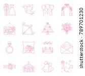 vector icon set of wedding...   Shutterstock .eps vector #789701230