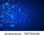 vector abstract futuristic...   Shutterstock .eps vector #789704638