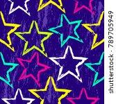grunge seamless bright cute... | Shutterstock .eps vector #789705949