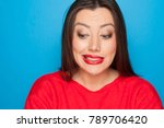 picture of woman  in a red... | Shutterstock . vector #789706420