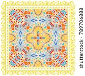decorative colorful ornament on ... | Shutterstock .eps vector #789706888