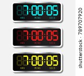 digital alarm clock. vector... | Shutterstock .eps vector #789707920