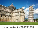 leaning tower of pisa and the... | Shutterstock . vector #789711259