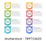 infographic template with four... | Shutterstock .eps vector #789713620
