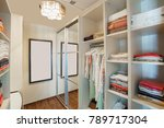 wardrobe room in a private... | Shutterstock . vector #789717304