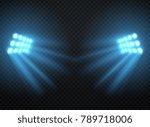 stadium lights  shiny... | Shutterstock .eps vector #789718006