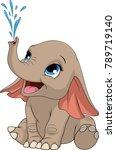 vector illustration of a funny... | Shutterstock .eps vector #789719140