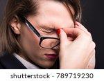 closeup portrait of young...   Shutterstock . vector #789719230
