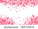 vector pink   red valentines... | Shutterstock .eps vector #789719674