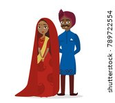 isolated happy indian wedding... | Shutterstock .eps vector #789722554