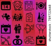 valentine's day vector icon set ... | Shutterstock .eps vector #789722668
