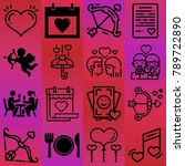 valentine's day vector icon set ... | Shutterstock .eps vector #789722890
