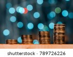 money savings concept with coin ... | Shutterstock . vector #789726226
