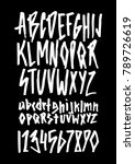 hand drawn alphabet in style... | Shutterstock .eps vector #789726619