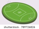 isometric field for australian... | Shutterstock .eps vector #789726826
