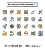 aerospace and astronomy outline ...   Shutterstock .eps vector #789738130