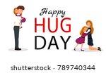 hug day background for banner ...   Shutterstock .eps vector #789740344