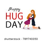 hug day background for banner ...   Shutterstock .eps vector #789740350