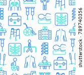physiotherapy seamless pattern... | Shutterstock .eps vector #789740356