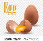 eggs are on a transparent... | Shutterstock .eps vector #789740614