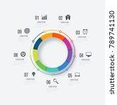 infographics template 9 options ... | Shutterstock .eps vector #789741130