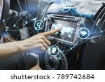 vehicle and graphical user... | Shutterstock . vector #789742684