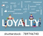 loyalty concept illustration.... | Shutterstock .eps vector #789746740