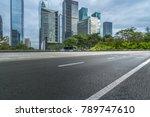 empty asphalt road front of... | Shutterstock . vector #789747610