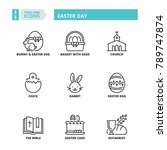 line icons about easter day | Shutterstock .eps vector #789747874