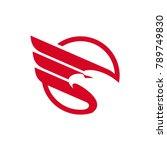 eagle logo vector template   Shutterstock .eps vector #789749830