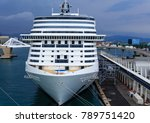 luxury cruise ship at stormy... | Shutterstock . vector #789751420