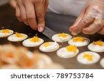 cooking fresh thai crispy... | Shutterstock . vector #789753784