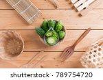 bitter cucumber or bitter... | Shutterstock . vector #789754720