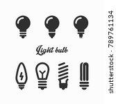 lamp light bulb outline vector...   Shutterstock .eps vector #789761134