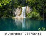waterfall in plitvice lakes... | Shutterstock . vector #789766468