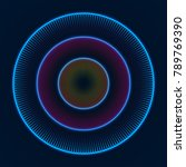 colorful glowing concentric... | Shutterstock .eps vector #789769390
