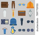 icon set about man accessories... | Shutterstock .eps vector #789770950