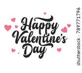 valentines day oblique... | Shutterstock .eps vector #789771796