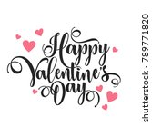 valentines day oblique... | Shutterstock .eps vector #789771820
