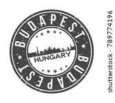 budapest hungary europe stamp...   Shutterstock .eps vector #789774196