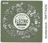 monochrome vector hand drawn... | Shutterstock .eps vector #789774250