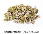 three seed mixture of pumpkin ... | Shutterstock . vector #789776260