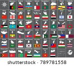 vector maps and flags of all... | Shutterstock .eps vector #789781558
