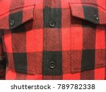 close up of red and black kilt... | Shutterstock . vector #789782338