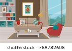 furniture. interior. living... | Shutterstock .eps vector #789782608